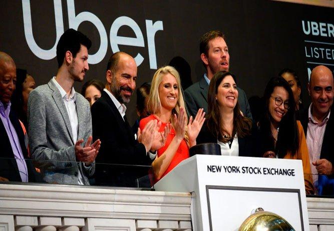 Uber'in hisseleri 42 dolardan halka açıldı