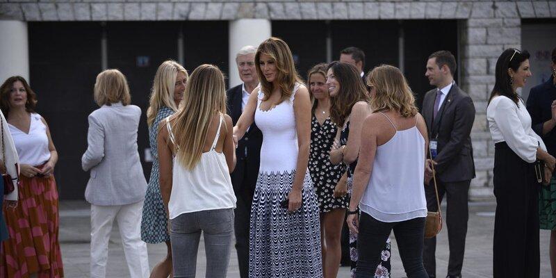 Photo of Melania Trump G7 Zirvesine Damga Vurdu0 (0)