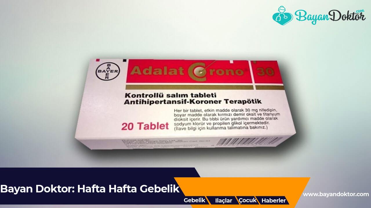 Adalat Crono 30 mg 20 Kontrollü Salım Tablet Nedir? Ne İşe Yarar?